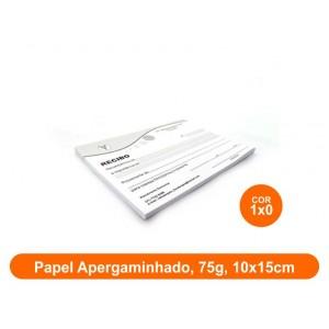10unid - Blocos de 50 folhas, Frente Preto e Branco, 10x15cm, Ap 75g