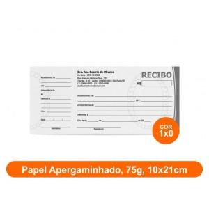 10unid - Blocos de 50 folhas, Frente Preto e Branco, 10x21cm, Ap 75g