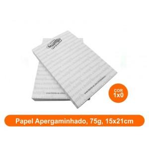 10unid - Blocos de 50 folhas, Frente Preto e Branco, 15x21cm, Ap 75g