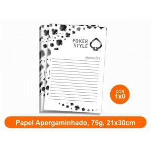 10unid - Blocos de 50 folhas, Frente Preto e Branco, 21x30cm, Ap 75g