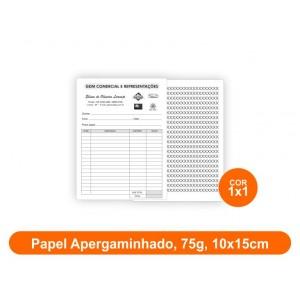 10unid - Blocos de 50 folhas, F/V Preto e Branco, 10x15cm, Ap 75g