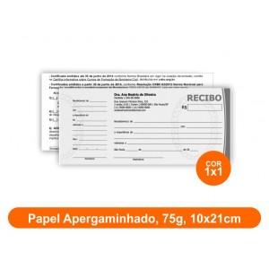 10unid - Blocos de 50 folhas, F/V Preto e Branco, 10x21cm, Ap 75g