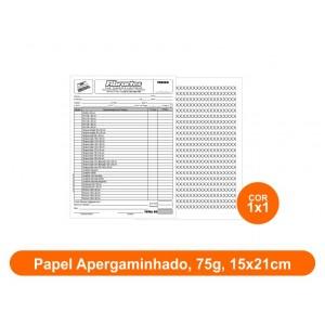 10unid - Blocos de 50 folhas, F/V Preto e Branco, 15x21cm, Ap 75g