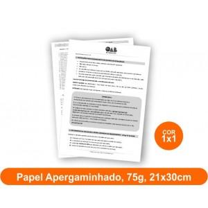 10unid - Blocos de 50 folhas, F/V Preto e Branco, 21x30cm, Ap 75g