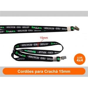 1unid - Cordões para Crachá 15mm / Frente Colorido + Verso Colorido