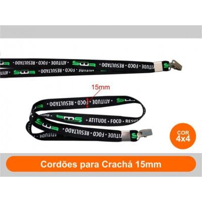 250unid - Cordões para Crachá 15mm / Frente Colorido + Verso Colorido