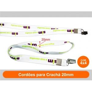 1unid - Cordões para Crachá 20mm / Frente Colorido + Verso Colorido