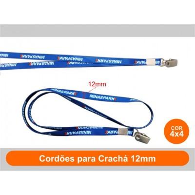 250unid - Cordões para Crachá 12mm / Frente Colorido + Verso Colorido