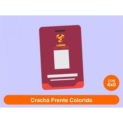 250unid - Crachás em PVC 0,75mm / Frente Colorido + Verso em Branco