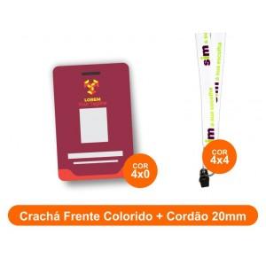 1unid - Crachá Frente Colorido + Cordão 20mm